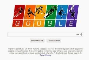Doodle - jogos olimpicos de inverno e a carta olimpica